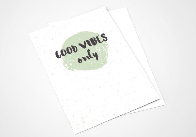 Kaarten Good Vibes Only, groen, post