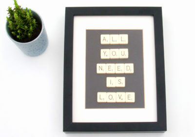 all-you-need-is-love Scrabble Art