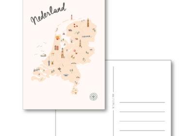 nederland geïllustreerd illustratie kaart map