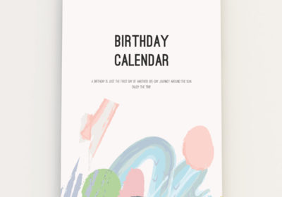 Verjaardagskalender Little Small pastelkleuren voorkant 365 Birthdays