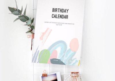 Verjaardagskalender pastel