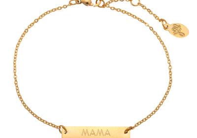 Mama armband in het goud